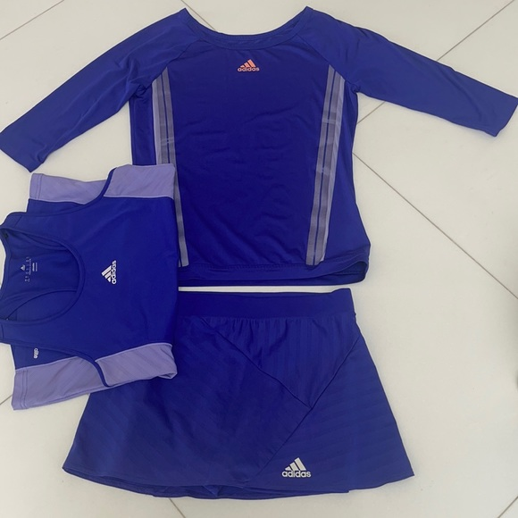 Purple Adidas Tennis Outfit size small